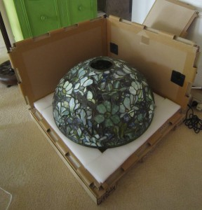 Antique Lamp Crate