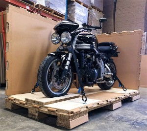 Triumph Motorcycle Crated for Transport