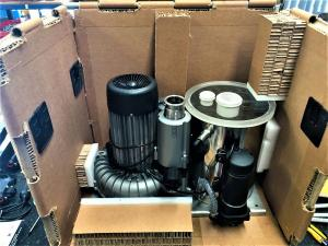 Electrical Equipment securely packed for transport