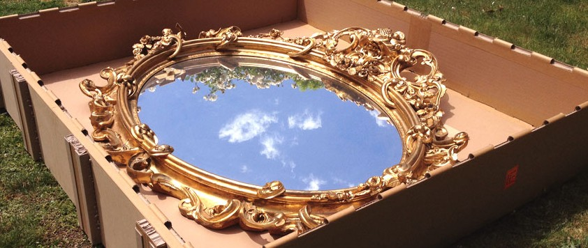 Guilded Mirror Crated