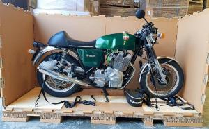Cruiser Motorcycle Boxed for transport