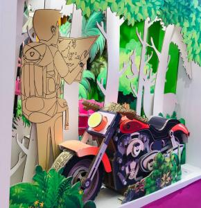 Display Board 3D Cardboard Motorbike