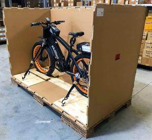 Skillion Electric Bike Crated for Transport