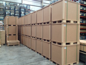 Hybrid square crates stacked