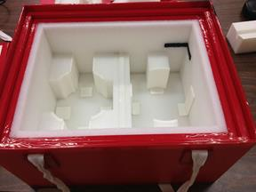Foam-inserts-for travelling crate