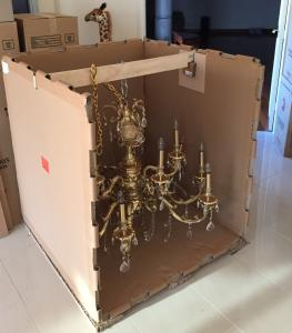 Suspended Chandelier crated for Transport