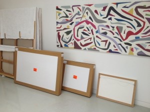 Painting-crates-in-gallery